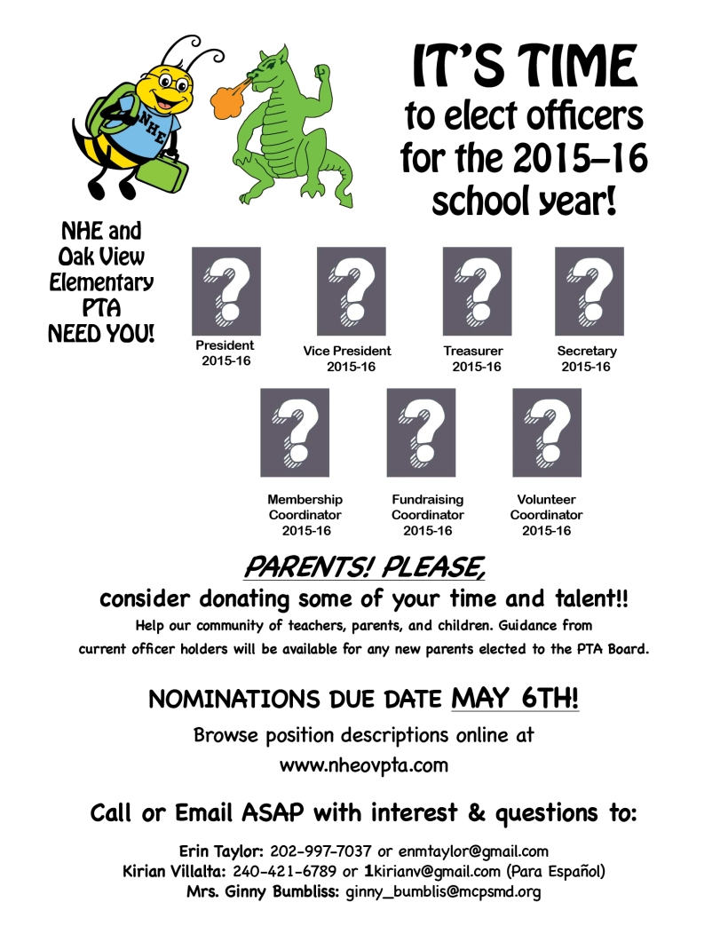 NHEOV PTA nomination 2nd flyer